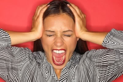 Image of a Woman Freaking Out
